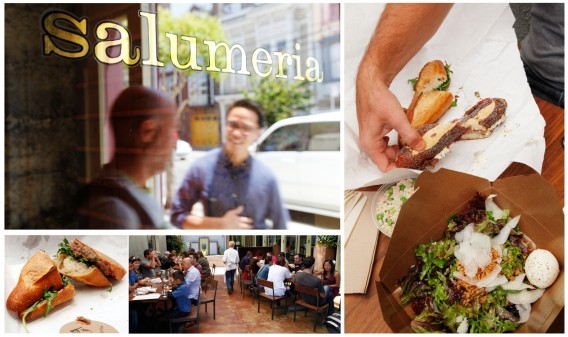 Salumeria opened today and was greeted by its first lunch rush.