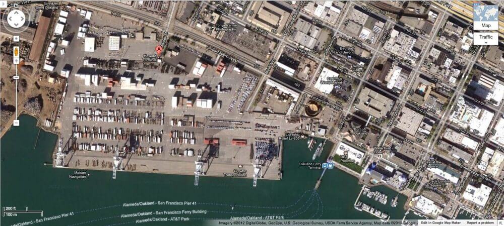 Howard Terminal Google Screenshot