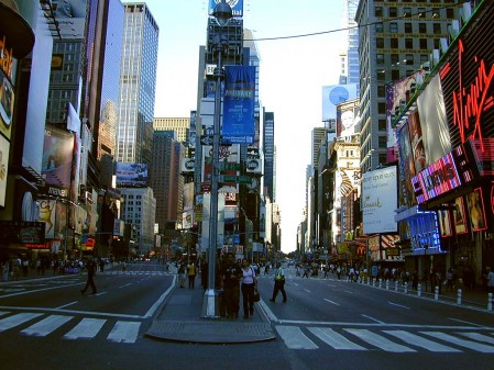 Outside of movie special effects, you may never see a more desolate Times Square than in the hours following the 9/11 attacks