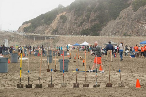 School kids, parents and supporters descended on Ocean Beach for Leap's 29th Annual Sandcastle contest Saturday, October 20, 2012 in San Francisco