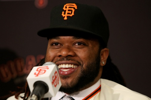 SF Giants pitcher Johnny Cueto